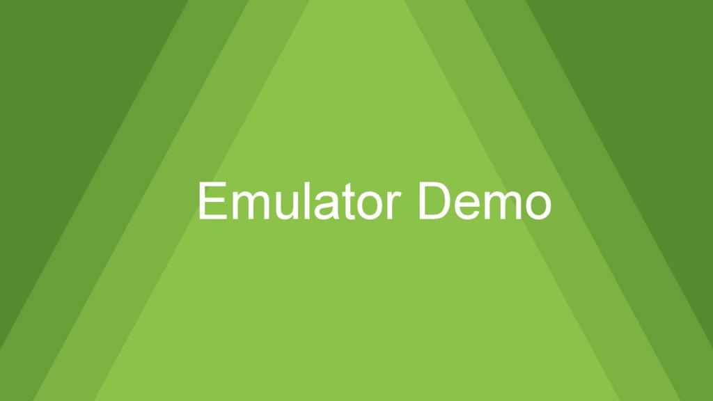 Emulator Demo