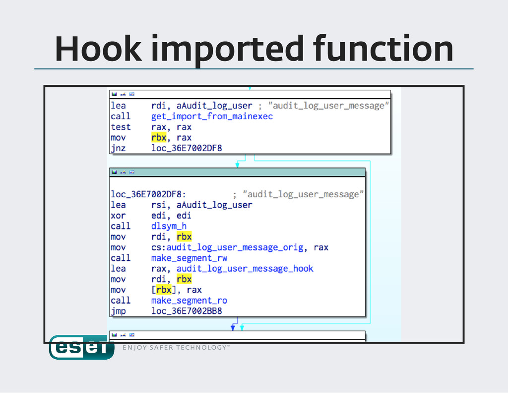Hook imported function
