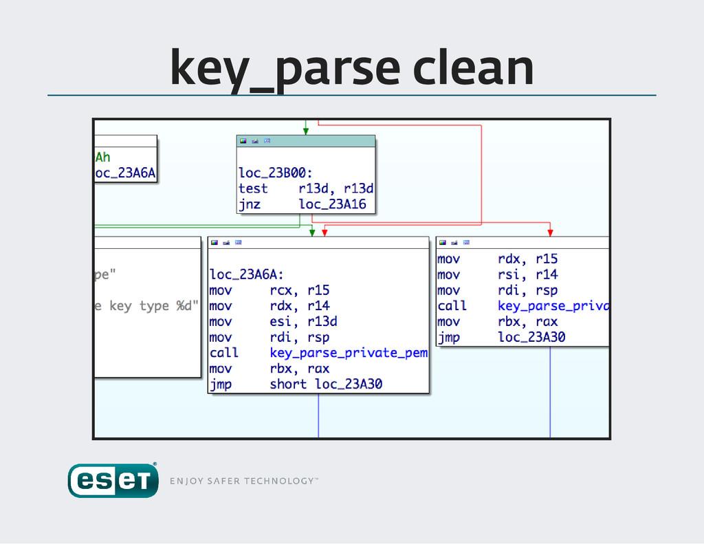 key _parse clean