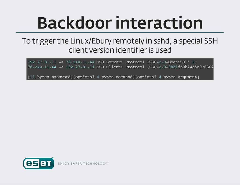 Backdoor interaction To trigger the Linux /Ebur...