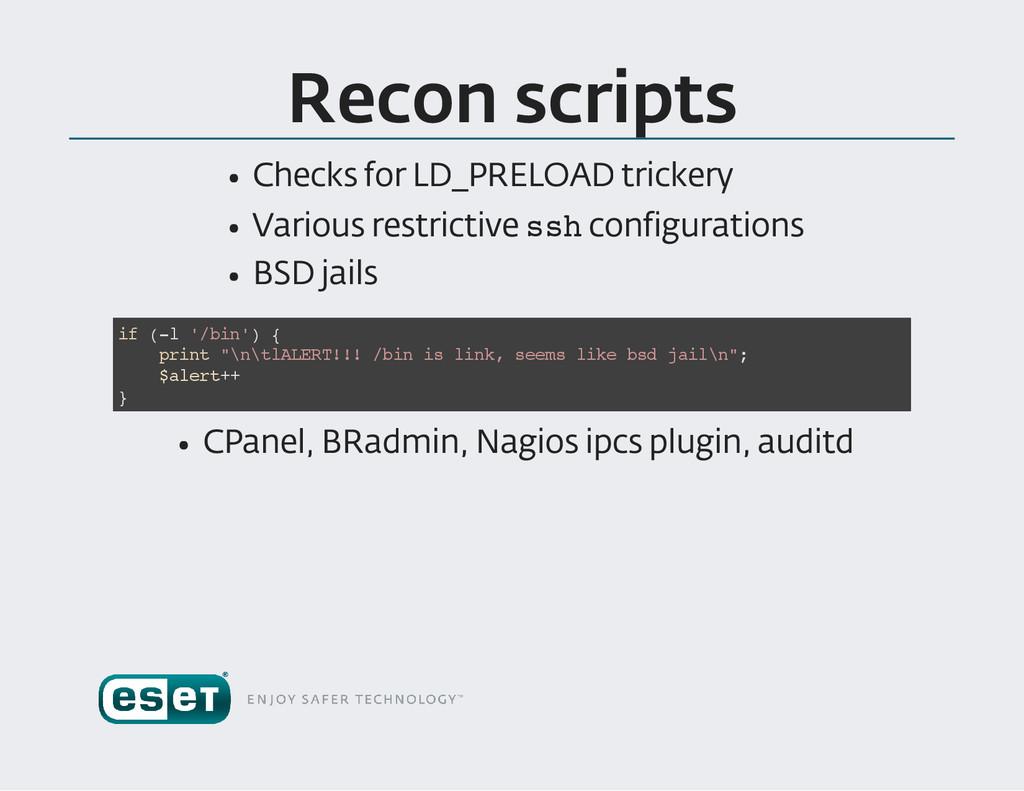 Recon scripts Checks for LD _PRELOAD trickery V...