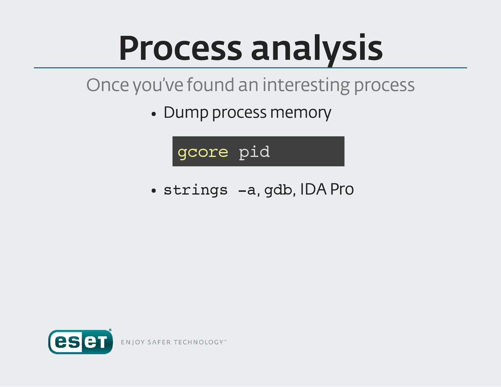 Process analysis Once you 've found an interest...