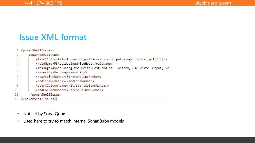 +44 1274 300 175 blackmarble.com Issue XML form...