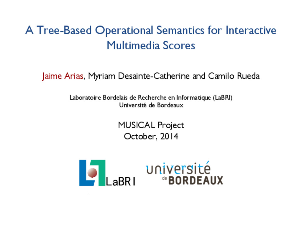 A Tree-Based Operational Semantics for Interact...