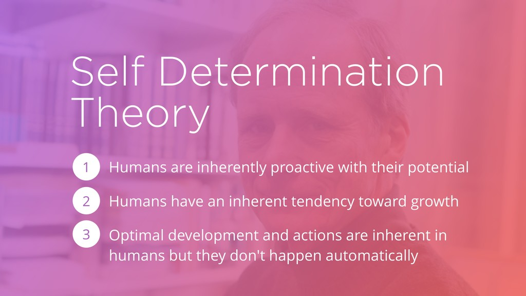 Self Determination Theory Humans are inherently...