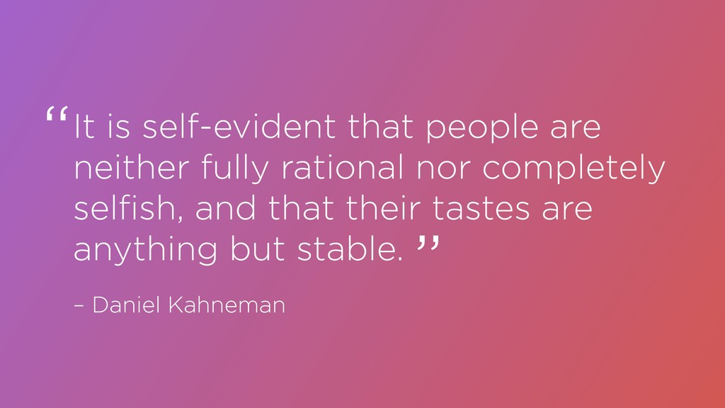 It is self-evident that people are neither full...
