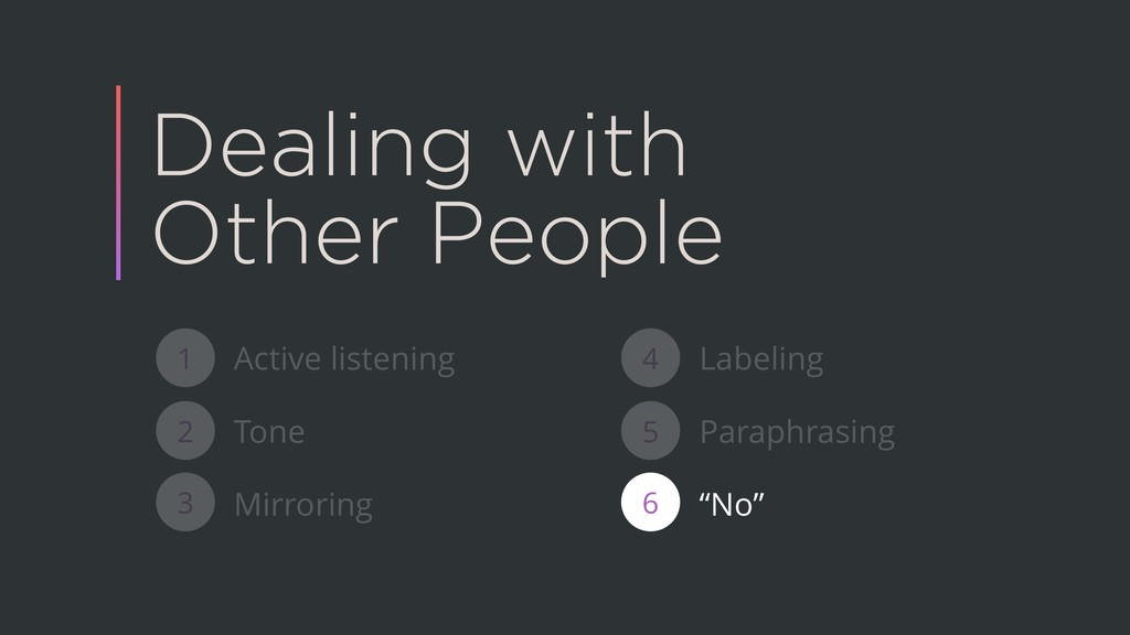 Dealing with Other People Active listening Tone...