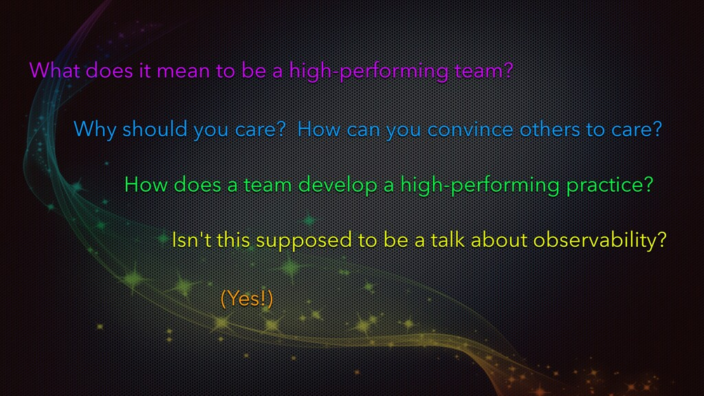 What does it mean to be a high-performing team?...