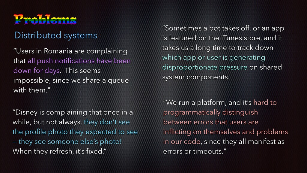 "Distributed systems ""Users in Romania are compl..."