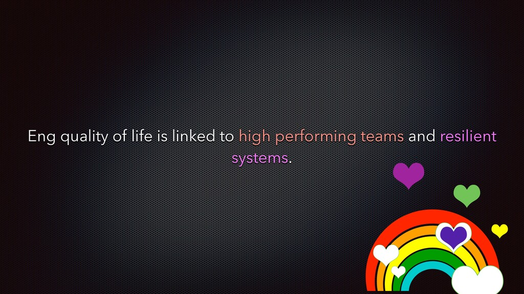 Eng quality of life is linked to high performin...