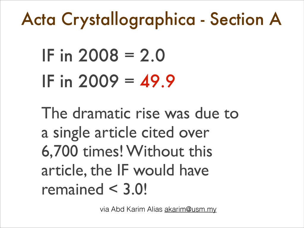 Acta Crystallographica - Section A 	 