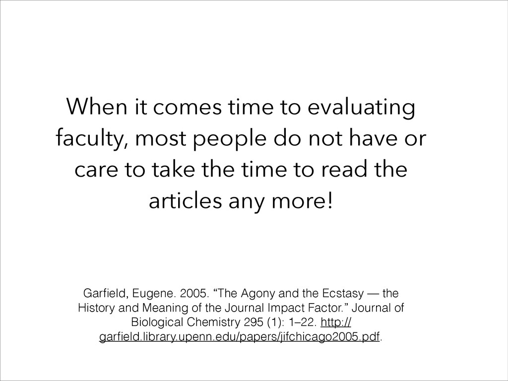When it comes time to evaluating faculty, most ...