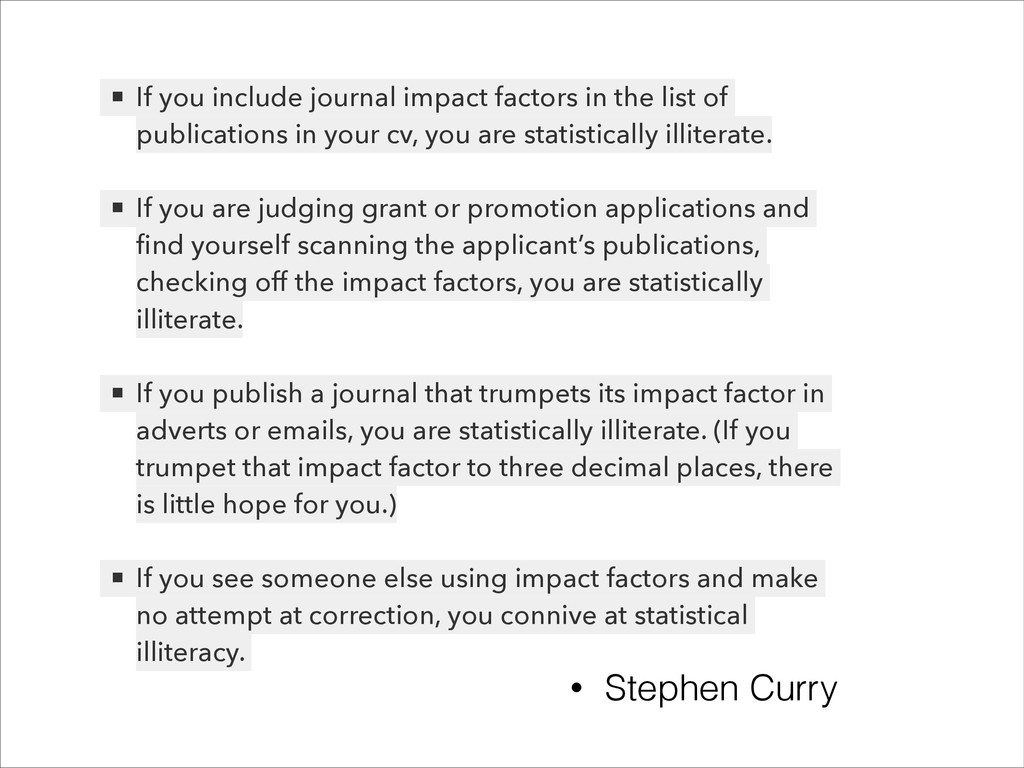! ▪ If you include journal impact factors in th...