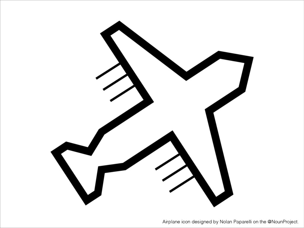 Airplane icon designed by Nolan Paparelli on th...