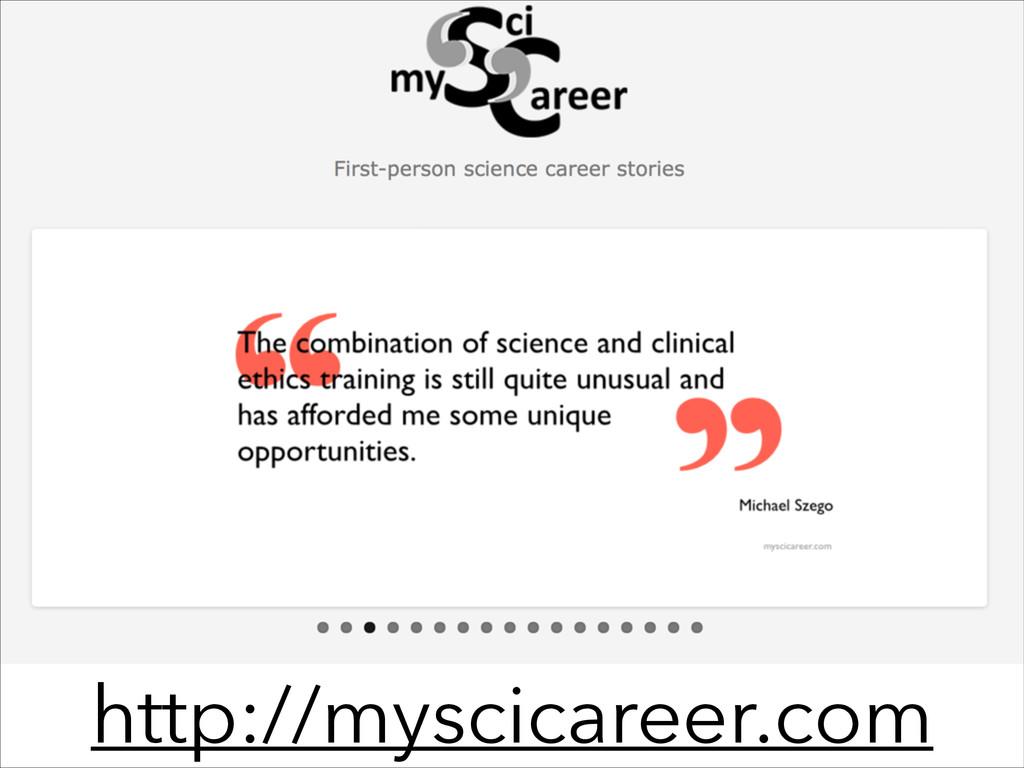 http://myscicareer.com