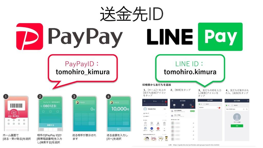 送金先ID PayPayID: tomohiro_kimura LINE ID: tomohi...