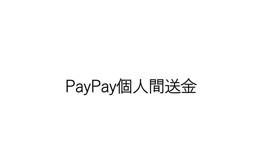 PayPay個人間送金