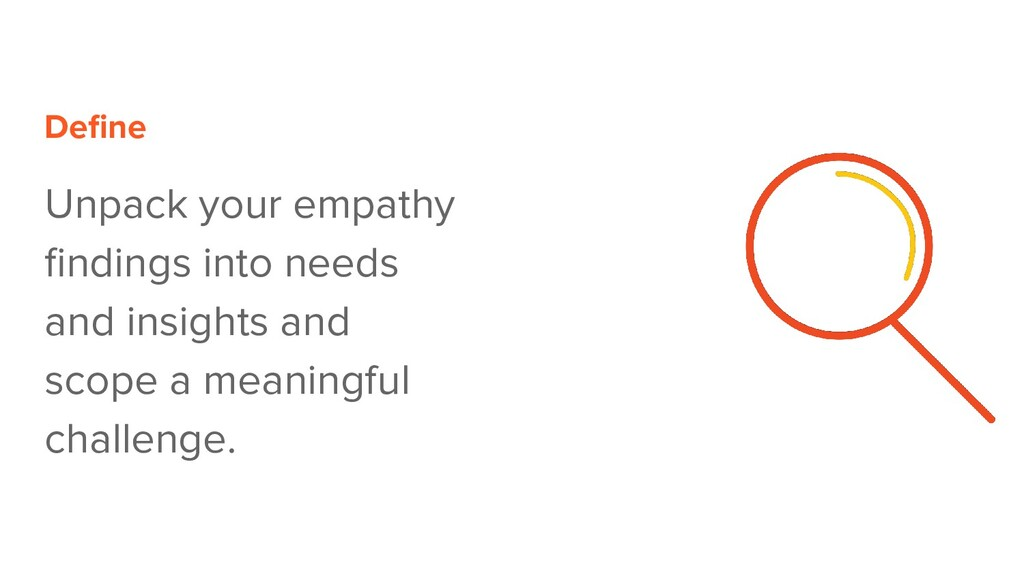 Define Unpack your empathy findings into needs an...