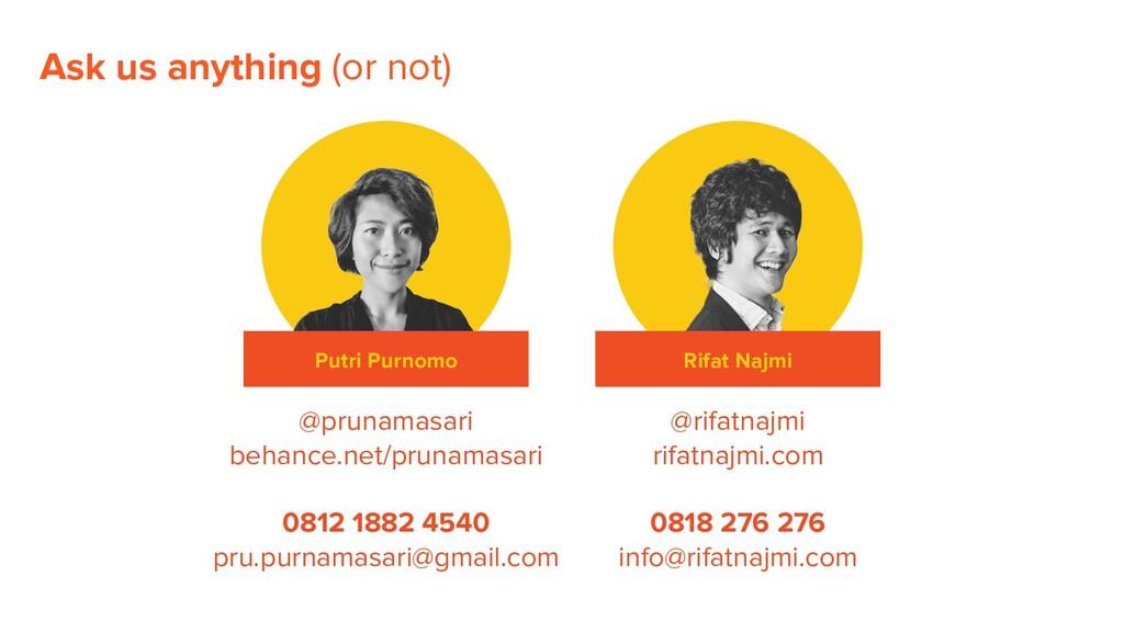 Putri Purnomo Rifat Najmi @prunamasari behance....