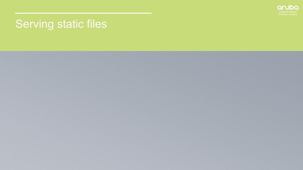 20 Serving static files