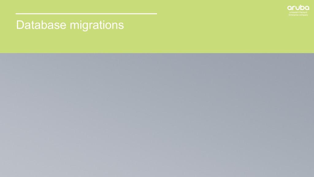 41 Database migrations