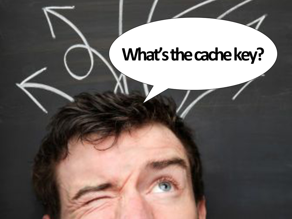 What's&the&cache&key?