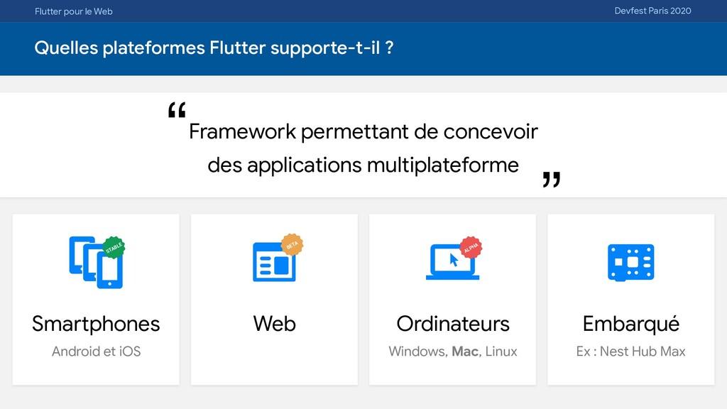 Flutter pour le Web Devfest Paris 2020 Quelles ...
