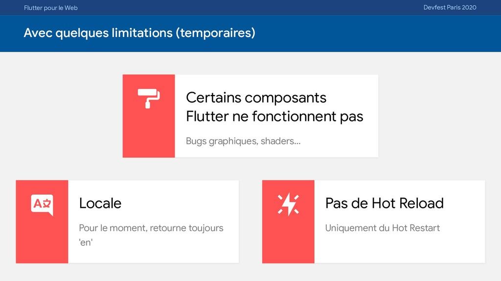Flutter pour le Web Devfest Paris 2020 Avec que...