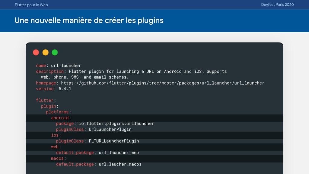 Flutter pour le Web Devfest Paris 2020 Une nouv...