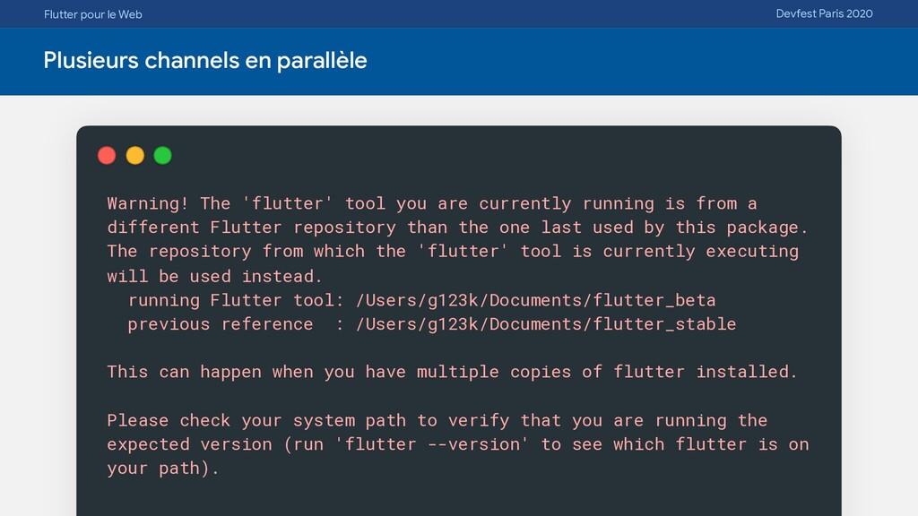 Flutter pour le Web Devfest Paris 2020 Plusieur...