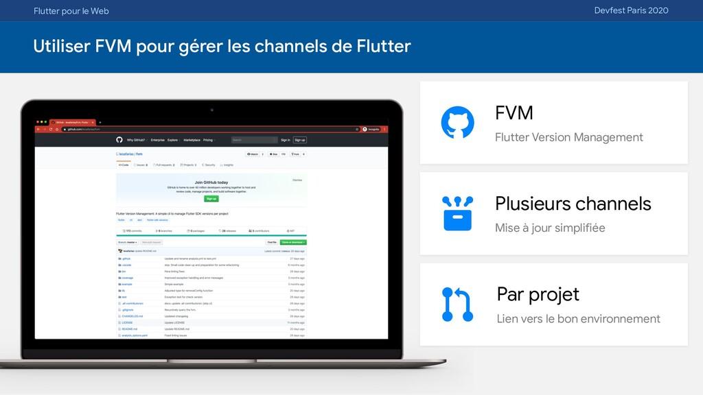 Flutter pour le Web Devfest Paris 2020 Utiliser...