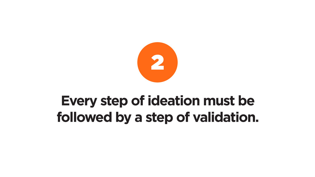 Every step of ideation must be followed by a st...