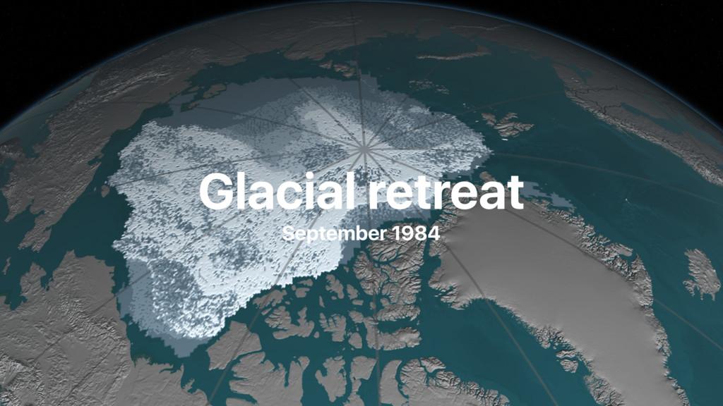 Glacial retreat September 1984