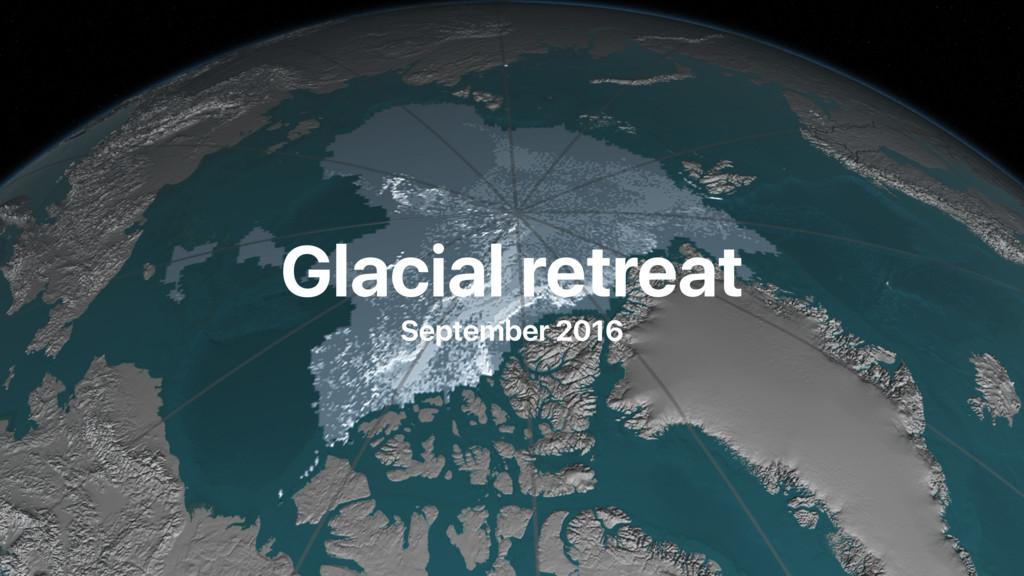 Glacial retreat September 2016