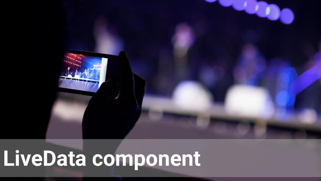 LiveData component