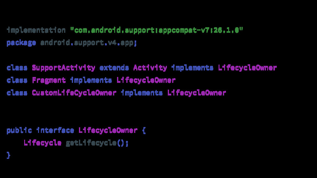 """implementation """"com.android.support:appcompat-v..."""
