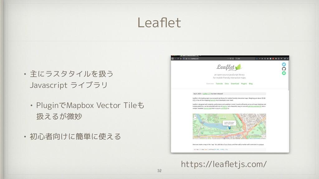 Lea fl et • 主にラスタタイルを扱う Javascript ライブラリ   • Pl...