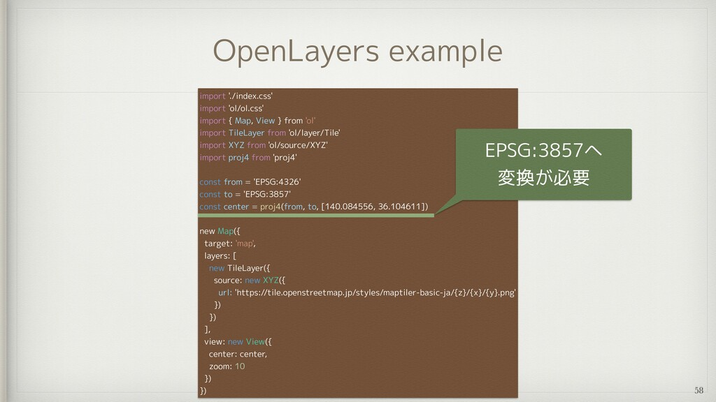 OpenLayers example import './index.css'   impor...