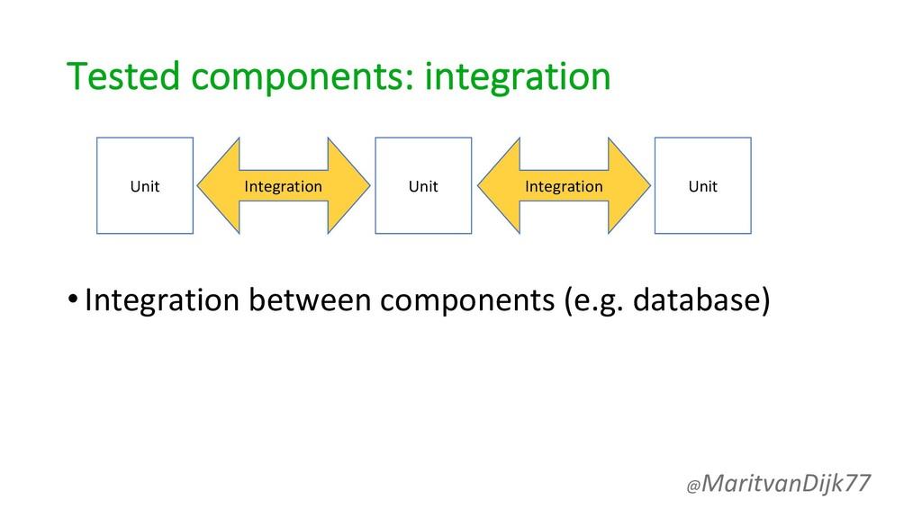 Tested components: integration •Integration bet...