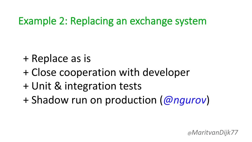 Example 2: Replacing an exchange system + Repla...