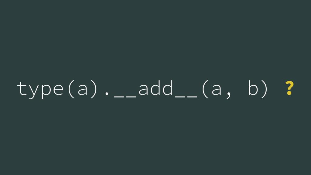 type(a).__add__(a, b) ?