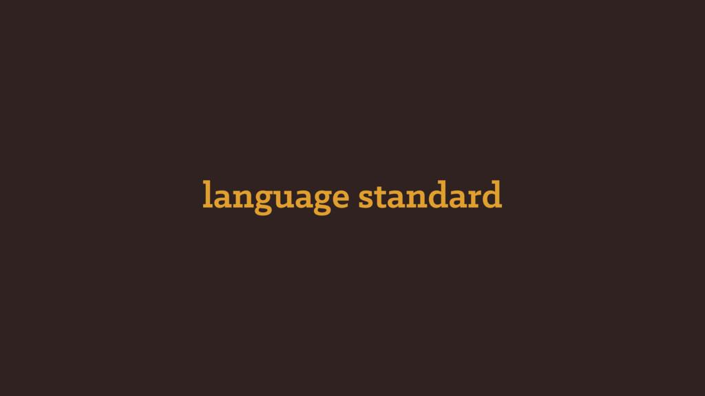 language standard