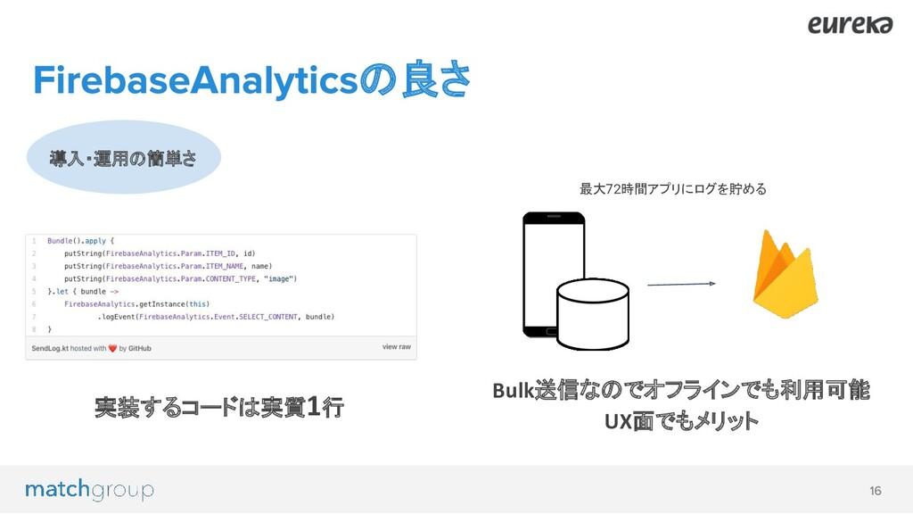 導入・運用の簡単さ の良さ 実装するコードは実質1行 Bulk送信なのでオフラインでも利用可能...