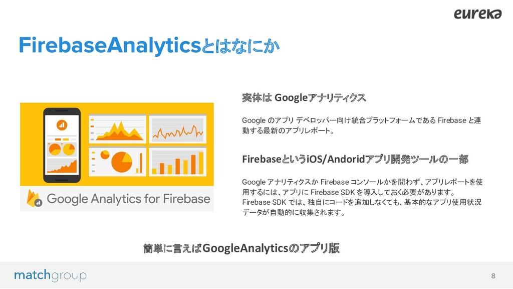 実体は Googleアナリティクス Google のアプリ デベロッパー向け統合プラットフォー...