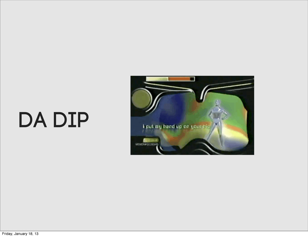 DA DIP Friday, January 18, 13