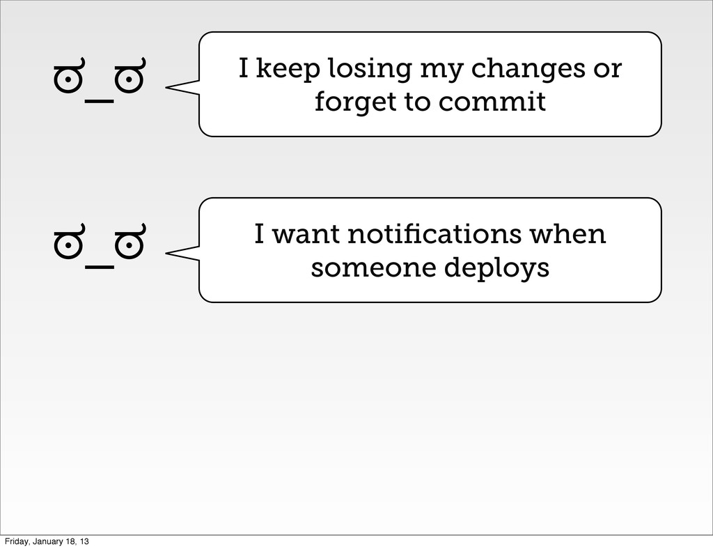 I keep losing my changes or forget to commit ಠ_...
