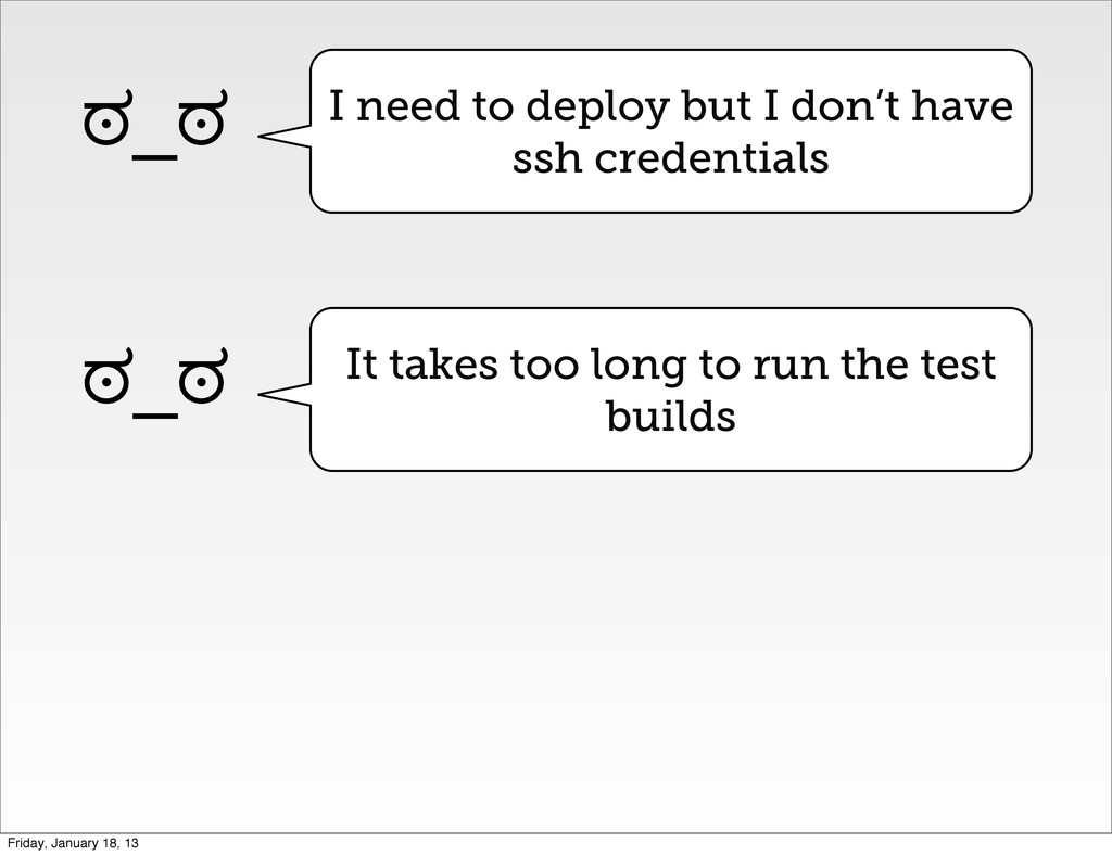 I need to deploy but I don't have ssh credentia...