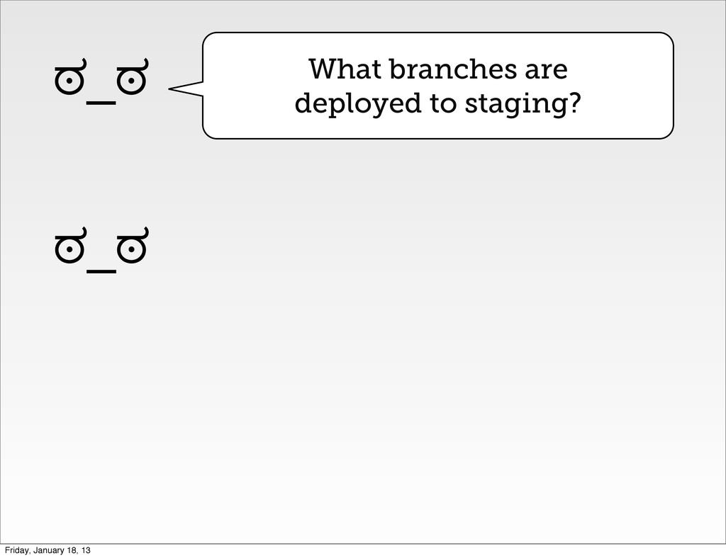 What branches are deployed to staging? ಠ_ಠ ಠ_ಠ ...