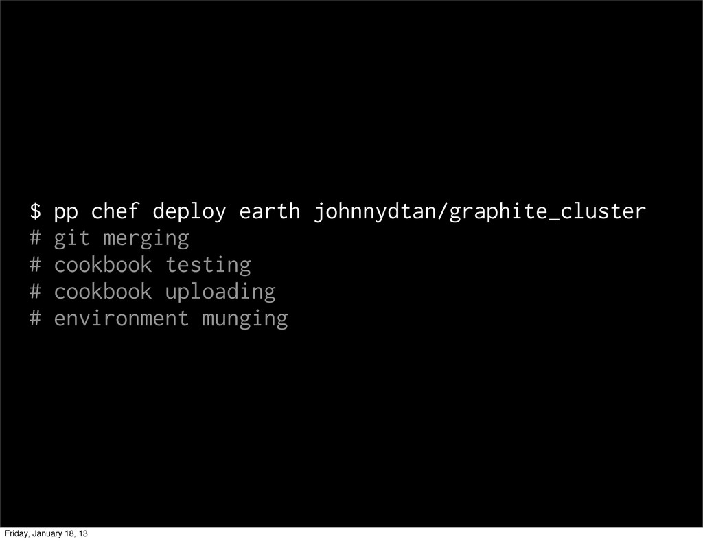$ pp chef deploy earth johnnydtan/graphite_clus...