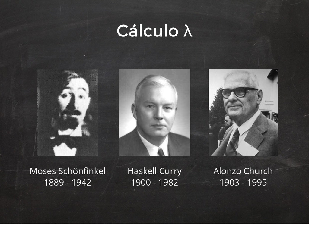 Moses Schönfinkel 1889 - 1942 Haskell Curry 1900...